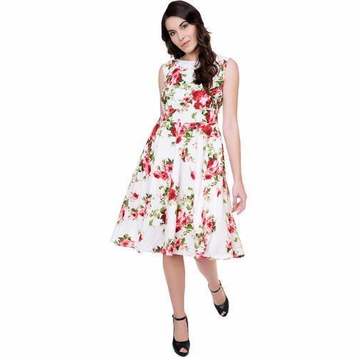 dress wanita Knee-length dress
